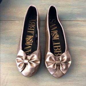 Sam & Libby Bow Ballet Flats size 6